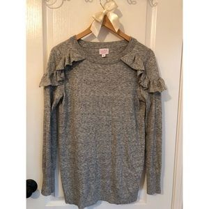 Gray maternity sweater